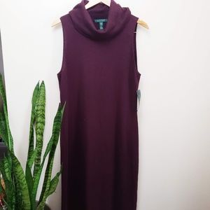 Ralph Lauren Cashmere Silk Turtleneck Dress